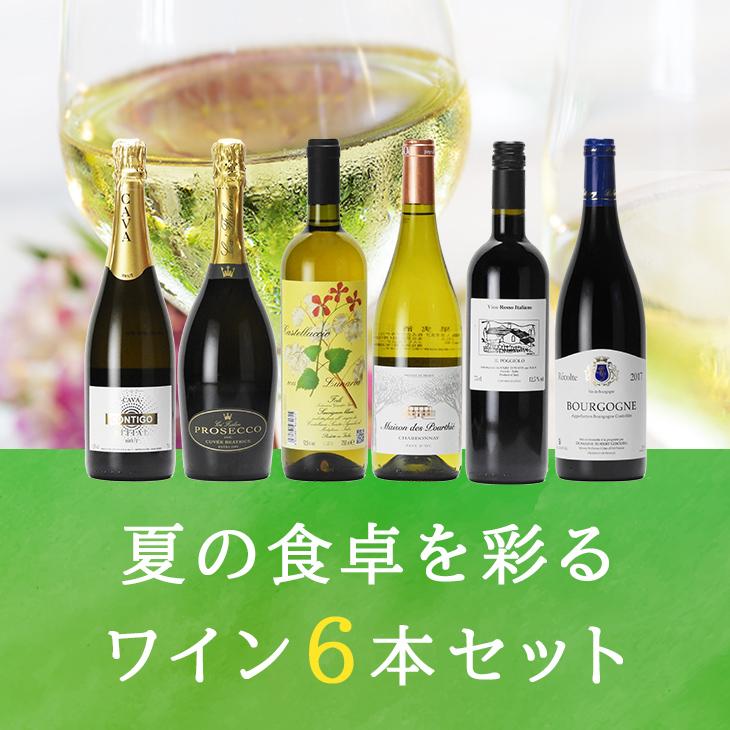 夏の食卓を彩るワイン6本セット